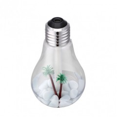 USB Powered 7 Color Nightlight Mist Bulb Humidifier-400mL Capacity-Super Quiet Operation